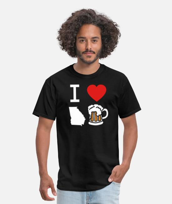 Craft Beer T-Shirts - I Heart Georgia Beer Drinking Gift - Men's T-Shirt black