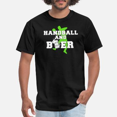 Coaching Handball Players Handball and Beer Handball Player Team Coach Gift - Men's T-Shirt