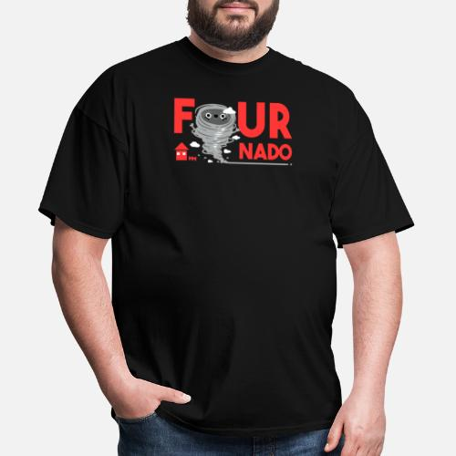 4th Birthday Four Boy Girl 4 Fournado Gift By Funny And Cool T Shirts