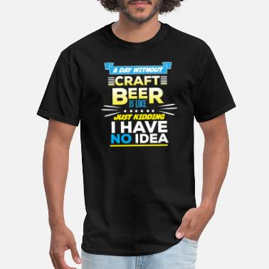Alcoholic T-Shirt Mens Funny Beer Drinking Top Ale Pub Tee ALCOHOL