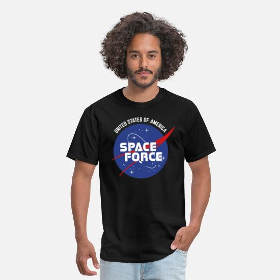 United States Space Force Distressed Vintage Logo Classic Men/'s T-Shirt black