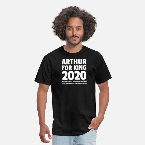 Arthur T-Shirts - Arthur For King 2020 Watery Tarts Lobbing Scimitar - Men's T-Shirt black