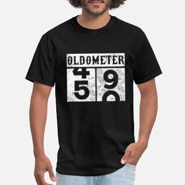 49 Years Old Quotes Oldometer 50th Birthday Counting Shirt - Men's T-Shirt