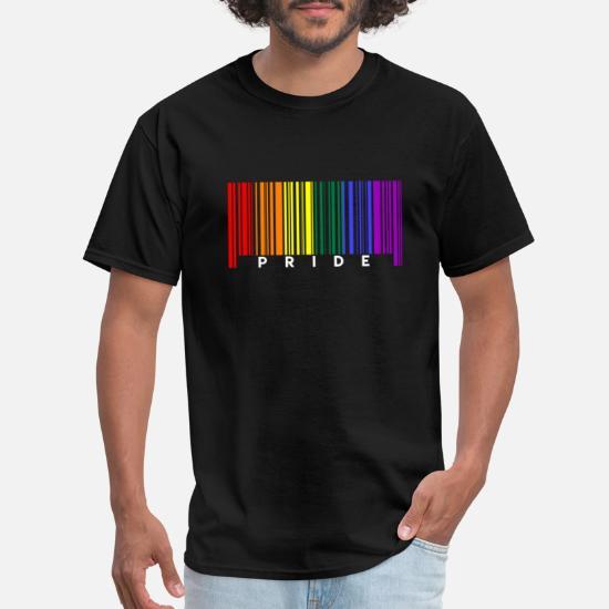 LGBT Barcode Drapeaux asexuée T-shirt homme-Pride-Gay-Bi Lesbienne-Trans