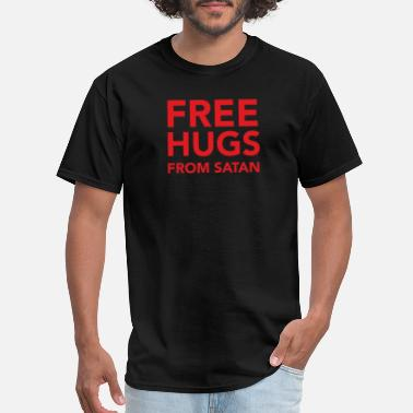 Tarot Funny Free Hugs From Satan Satanism - Men's T-Shirt