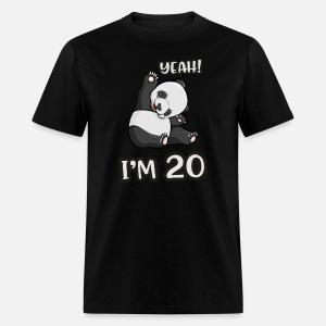 Panda 30th Birthday Gift Woman Bear Mens Tall T Shirt