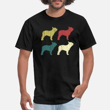 French Kids Retro Frenchie French Bulldog Lover Gifts Dog Owne - Men's T-Shirt