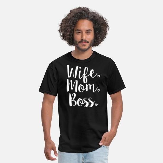 WIFE MOM BOSS T SHIRT IN CHARGE INDEPENDENT GIFT MOTHERS DAY FASHION TUMBLR
