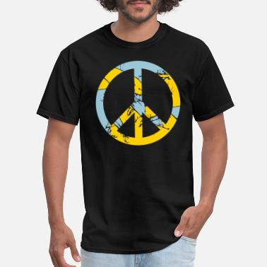 Tears tears scratches round circle zone no peace sign sy - Men's T-Shirt