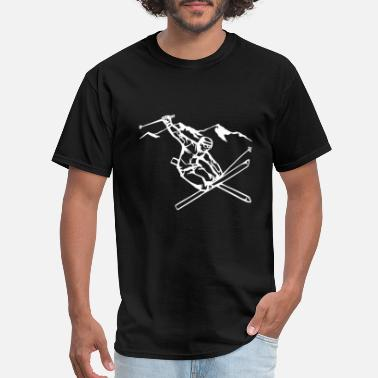 Ski Resort skiing - Men's T-Shirt