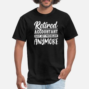 Consultant Funny Retired Accountant Vintage Memes Accountancy - Men's T-Shirt