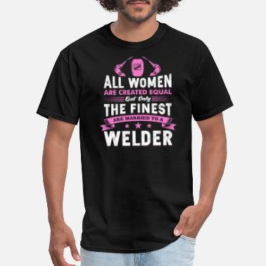Arc Cool Wife Distressed Vintage Welding Motivational - Men's T-Shirt