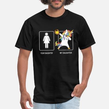 Fuck Daughter your daughter my daughter picture sport unicorn - Men's T-Shirt