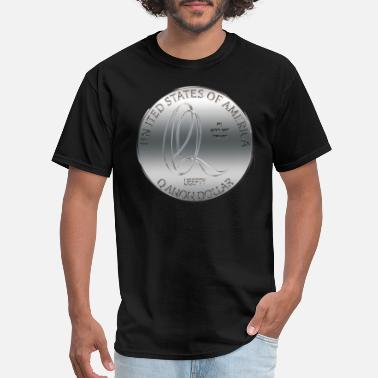 United We Are Q'Anon dollar silver coin - Men's T-Shirt