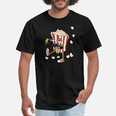 Walk Marathon Walking Popcorn Cinema Marathon Zombie - Men's T-Shirt