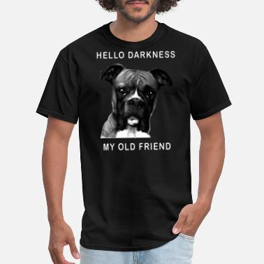 I Love My Army Boyfriend hello darkness my old friend sad funny smile black - Men's T-Shirt