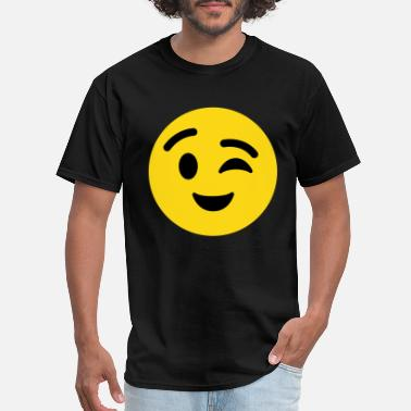 Emoji Winky Face Emoticon - Men's T-Shirt