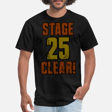 Stage 25th Birthday Stage 25 Clear Gamer Shirt Gift Idea - Men's T-Shirt