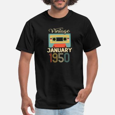 1950s Vintage January 1950 70th Birthday 70 Year Gift - Men's T-Shirt