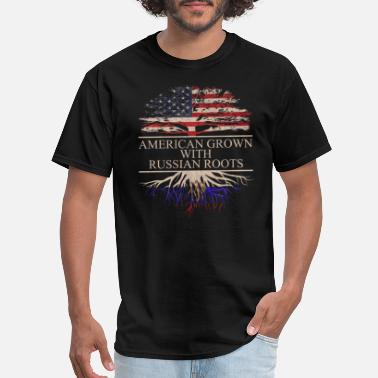 Russian Roots American grown with russian roots - Men's T-Shirt