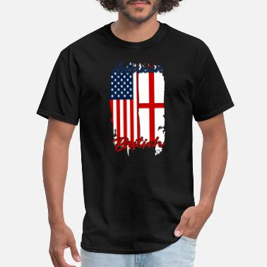 Freedom Tower Half USA, Half British - Men's T-Shirt