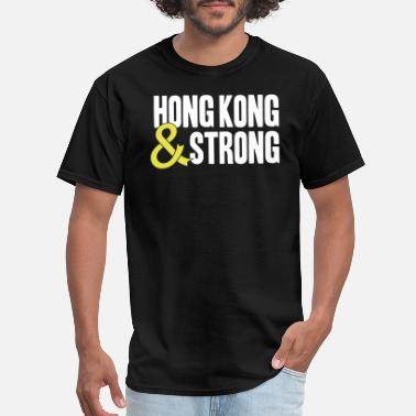 Hong Kong Hong Kong & Strong - Occupy Central Yellow Ribbon - Men's T-Shirt