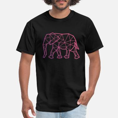 Print Geometric Elephant - Men's T-Shirt