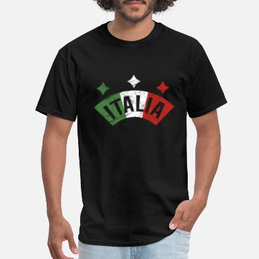 Italian Flag Italy Flag Vacation Travel Distressed Gifts - Men's T-Shirt