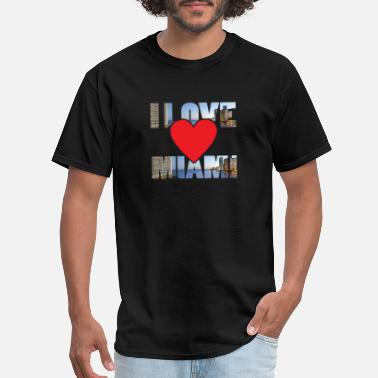 Miami Beach I love Miami - Men's T-Shirt