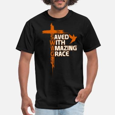 Amazing Inspirational Religious S.W.A.G. Christian Faith - Men's T-Shirt