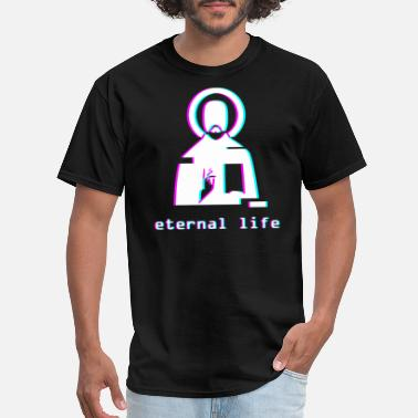 Vaporwave Eternal Life Jesus Vaporwave Aesthetic - Men's T-Shirt