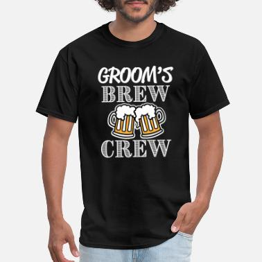 Bachelor Groom's Brew Crew groomsman bachelor party shirt - Men's T-Shirt