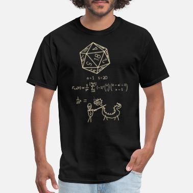 20 Sided Dice The science of 20 sided dice - Men's T-Shirt