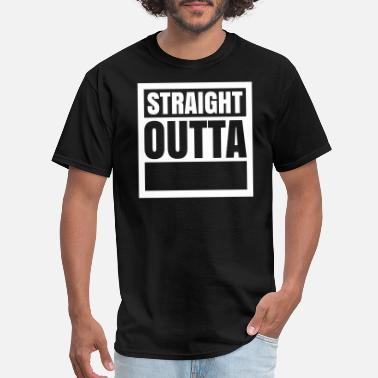 Straight Custom Straight Outta (1 color) - Men's T-Shirt