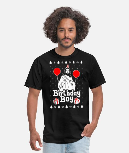 Christmas T-Shirts - Birthday Boy Jesus Christmas - Men's T-Shirt black
