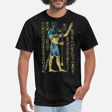 Seth Egyptian Seth Ornament Gold and Abalone - Men's T-Shirt