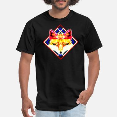 Geometric Fox Fox Geometric - Men's T-Shirt