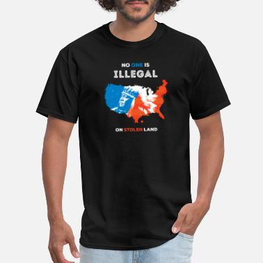 Illegal Activity no one is illegal CENTAR - Men's T-Shirt