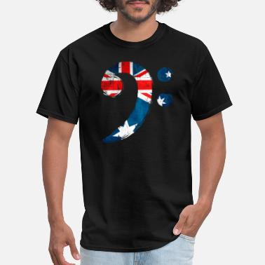 Bass Clef Bass Clef Australia for Bass Player - Men's T-Shirt