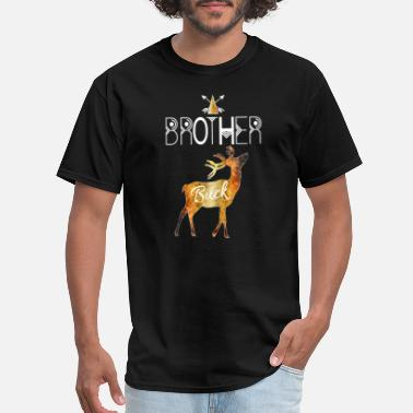 Big Bucks Brother Buck Deer BrownTribal Family Christmas - Men's T-Shirt