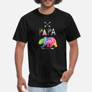 Balloons Papa Bear Tie Dye Matching Family Camping - Men's T-Shirt