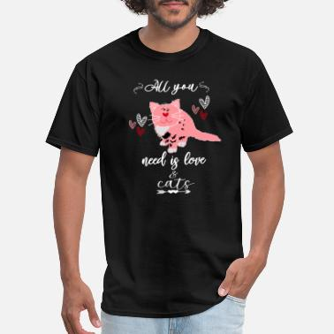 Exclusive A Valentine Gift For Cat Lovers Cute All You Need - Men's T-Shirt