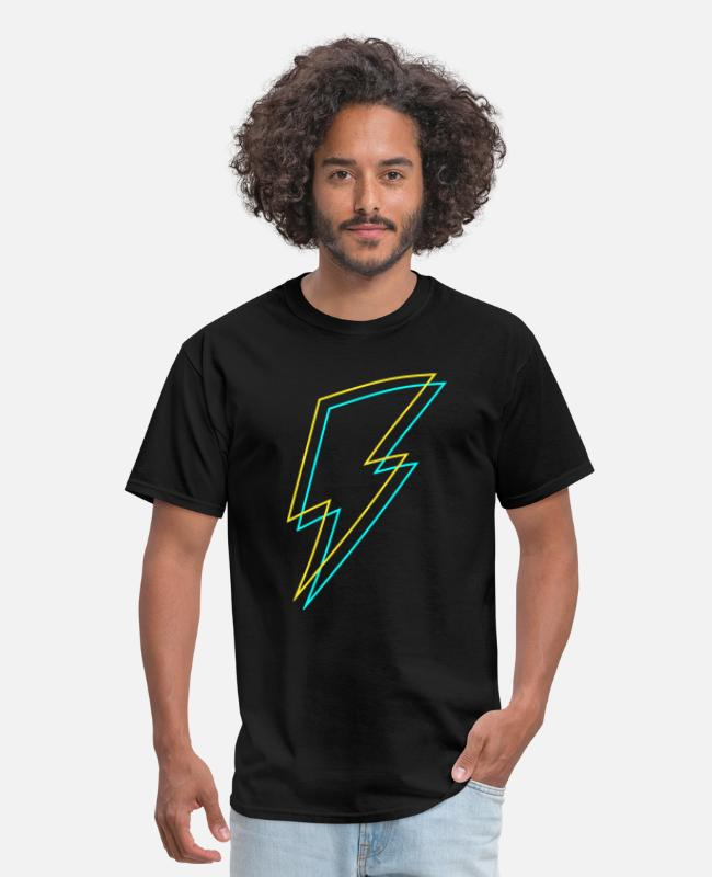 Electricity T-Shirts - Bolt - Flash - Lightning -Trueno - Thunder - Zeus - Men's T-Shirt black