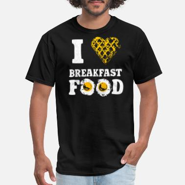 Food Breakfast I Heart Breakfast Food - Men's T-Shirt