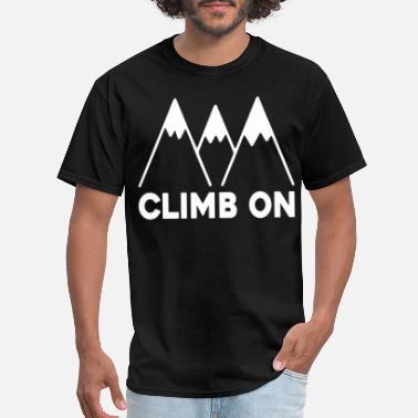 Boulder Baby Climb On baby climbing baby boy baby girl Colorado - Men's T-Shirt