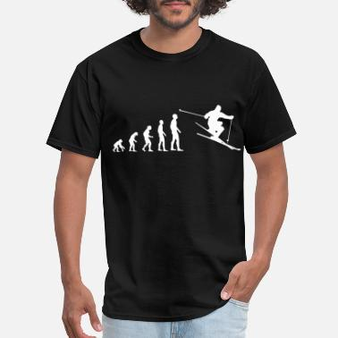 Skiing Evolution Evolution Skiing - Men's T-Shirt