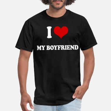 I Heart My Baseball Boyfriend I LOVE MY BOYFRIEND ROMANTIC LOVING heart VALENTIN - Men's T-Shirt