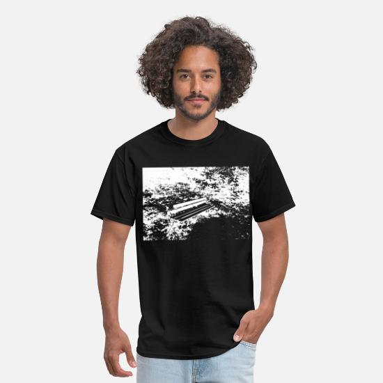 Bench T-Shirts - bench in the forest - Men's T-Shirt black