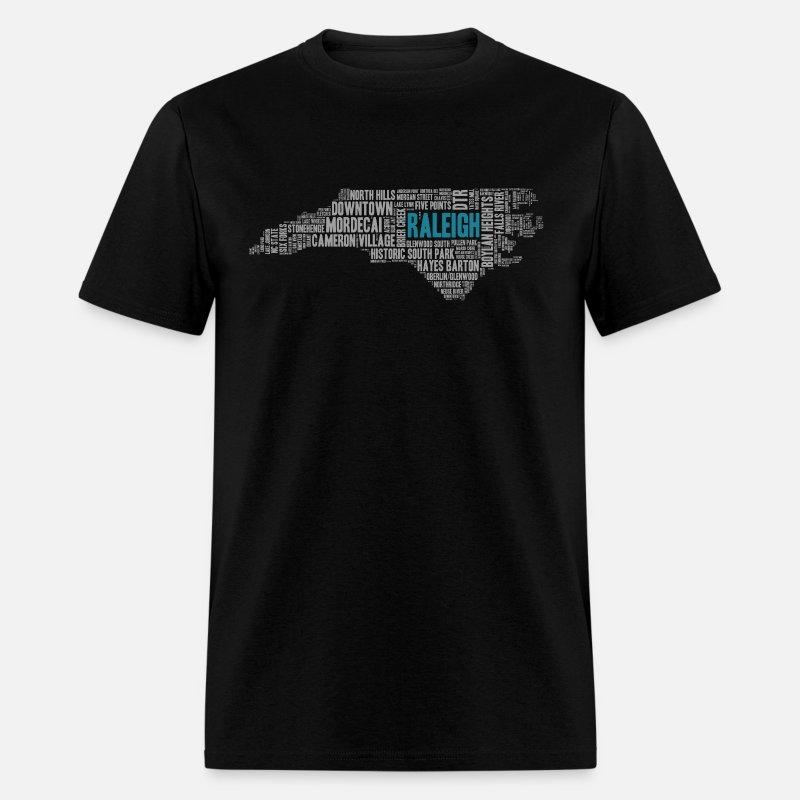 Raleigh Word Art Apparel | North Carolina Apparel Men's T-Shirt - mineral  royal