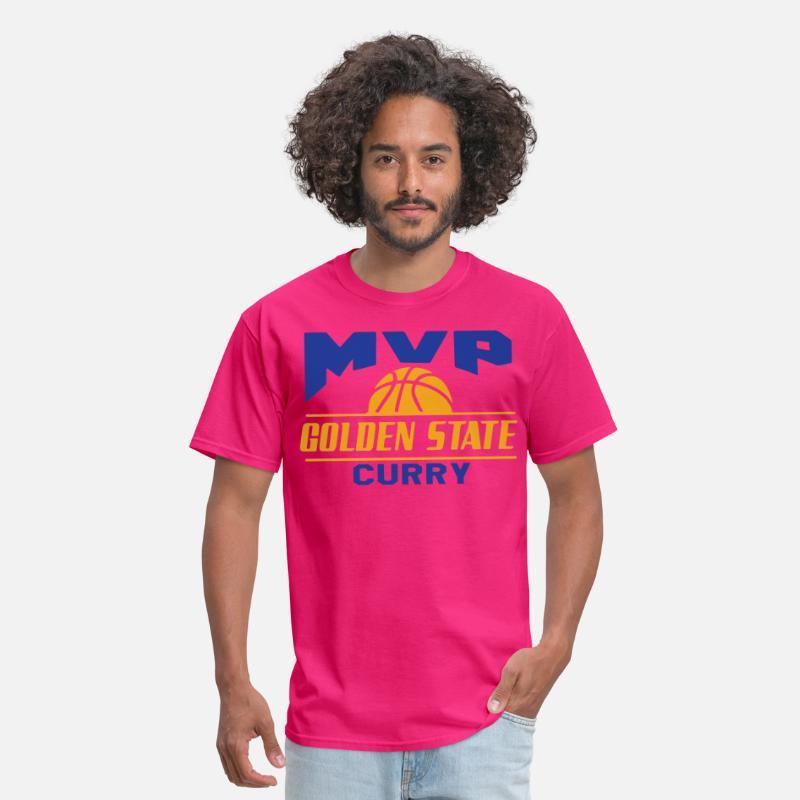 sale retailer 7bf60 44e8b Golden State Warriors Stephen Curry MVP Jersey sof Men's T-Shirt - fuchsia